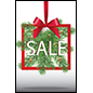 Christmas season retail sign for sale promotions