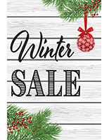 "Retail ""Winter Sale"" poster in portrait orientation"