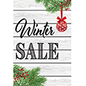 "Retail ""Winter Sale"" poster with satin finish"
