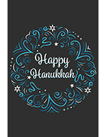 "24"" x 36"" retail ""Happy Hanukkah"" poster in portrait orientation"
