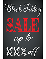 24 x 36 Black Friday sign with digital printing