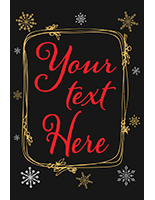 Custom text chalkboard holiday poster with digital printing