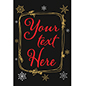 Custom text chalkboard holiday poster with festive artwork