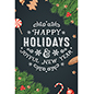 Winter season chalkboard poster with festive artwork