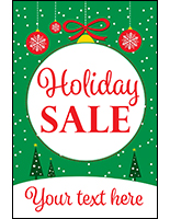 "24"" x 36"" ""Holiday Sale"" window poster with personalization"