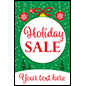 "24"" x 36"" ""Holiday Sale"" window poster with seasonal theme"