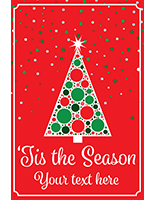 "24"" x 36"" Christmas tree window poster for retail"