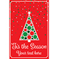 Christmas tree window poster for retail with stock artwork