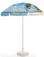 Commercial Patio Umbrella with Custom Dye-Sub Printing