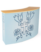 Replacement wrap around graphic for CNTPUVL3X2 pop-up counter with personalized art