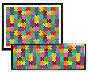 Frames for jigsaw puzzles