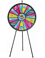 Prize wheels spinning games for office event giveaways 40w 15 30 slots floor standing printable templates maxwellsz