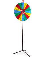 Carnival Prize Wheel with Red Pointer
