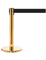 Mini Brass Retractable Stanchion, 11' Belt