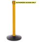 Yellow Stanchion with Retractable Strap