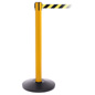 Yellow Steel Stanchion Barrier with 4 Connectors