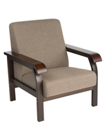 Office Lobby Chair with Wooden Armrests