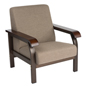 Office Lobby Chair with Brown Powder Coated Frame
