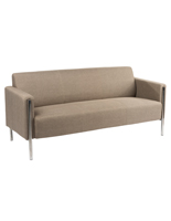 Modern Office Couch with Stainless Steel Frame