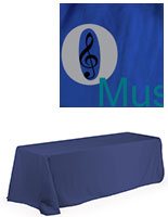 Royal Blue Polyester Custom Tablecloth