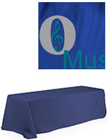 8' Royal Blue Polyester Table Cover