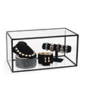 "Clear 10"" x 20"" acrylic display box for countertops"