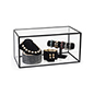 "Clear 10"" x 20"" acrylic display box for tabletop use"