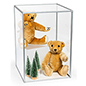 "Vertical 14"" acrylic square display cube"