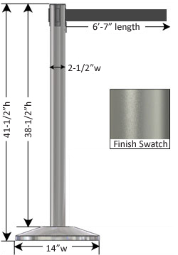 Silver Stanchion Measurements