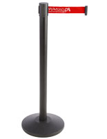 Floor Standing Stanchion with Red Printed Belt