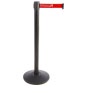 Custom Stanchion with Red Printed Belt