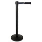 Custom Stanchion with Black Printed Belt