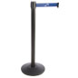Custom Stanchion with Blue Printed Belt