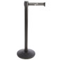 Knockdown Stanchion with Gray Printed Belt