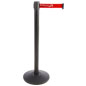 Durable Stanchion with Red Printed Belt