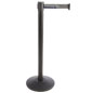 Customizable Stanchion with Gray Printed Belt
