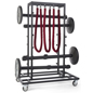 Padded Stanchion Storage Cart