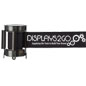 Black Custom Stanchion Belt with 1 Color Printing Barricade