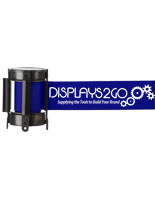 Branded Blue Custom Stanchion Belt with 1 Color Printing