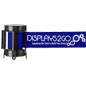 Blue Custom Stanchion Belt with 1 Color Printing Retractable