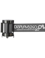 Economy Gray Custom Stanchion Belt with 1 Color Printing