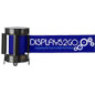 Silkscreen Application Blue Custom Stanchion Belt with 2 Color Printing