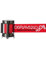 4 Way Adaptor Red Custom Stanchion Belt with 2 Color Printing