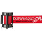 Economy Red Custom Stanchion Belt with 2 Color Printing