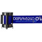 Nylon Blue Custom Stanchion Belt with 3 Color Printing