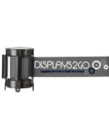 Single or Double Sided Gray Custom Stanchion Belt with 3 Color Printing