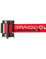 Red Custom Stanchion Belt with 3 Color Printing & Double Sided Graphics