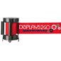 Red Custom Stanchion Belt with 3 Color Printing & Single Sided Graphics