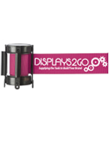 6.5' long printed pink crowd control stanchion belt