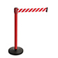 Reflective Belt Weighted Stanchions with Metal Construction